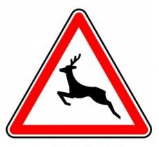 """Kit ou Panneau type routier  """"Passage d'animaux sauvages""""  ref:A15b"""