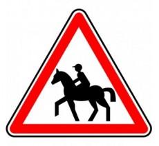 """Kit ou Panneau type routier """"Passage de cavaliers"""" ref:A15c"""