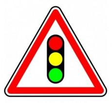 """Panneau type routier """"Annonce de feux tricolores"""" ref:A17"""