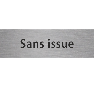 "Plaque porte avec relief ""Sans issue"""