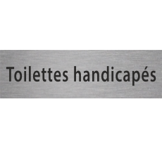 """Plaque porte avec relief """"Toilettes handicapés"""""""