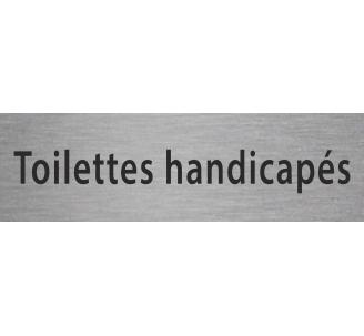 """Plaque porte avec relief """"Toilettes handicapé"""""""