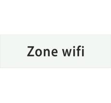 "Plaque porte avec relief ""Zone wifi"""