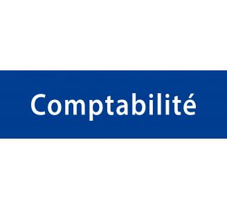 """Plaque porte avec relief """"Comptabilité"""""""