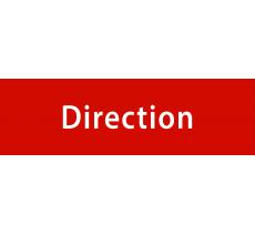 """Plaque porte avec relief   """"Direction"""""""