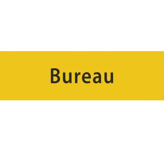 """Plaque porte avec relief """"Bureau"""""""
