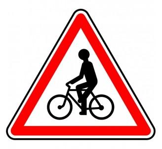 """Panneauseul ou en kit type routier """"Débouché de cyclistes"""" ref:A21"""
