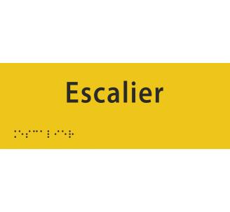 """Plaque porte avec Braille et relief """"Escalier"""""""
