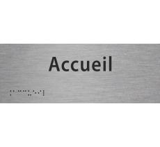 """Plaque porte """"Accueil"""" avec Braille et relief"""