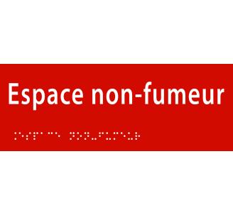 """Plaque porte avec Braille et relief """"Espace non fumeur"""""""