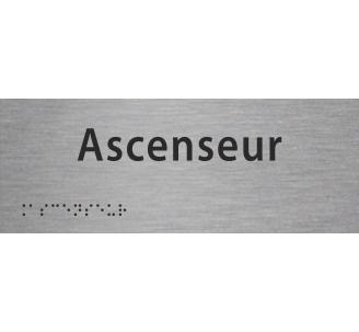 """Plaque porte avec Braille et relief """"Ascenseur"""""""