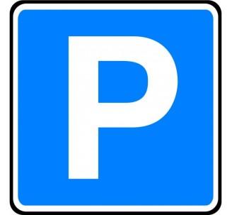 """Panneau ou kit type routier """"Lieu aménagé pour le stationnement"""" ref:C1a"""