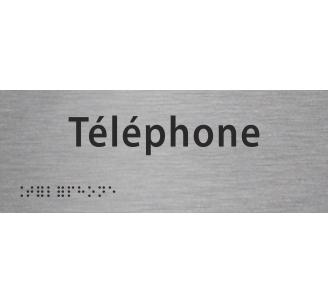 """Plaque porte avec Braille et relief   """"Téléphone"""""""
