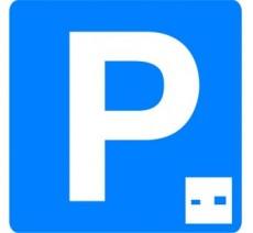 """Panneau seul ou en kit type routier """"Lieu aménagé pour le stationnement gratuit à durée limitée avec contrôle"""" ref:C1b"""