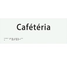 """Plaque porte avec Braille et relief """"Cafétéria"""""""