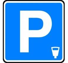 """Panneau ou kit type routier  """"Lieu aménagé pour le stationnement payant""""  ref:C1c"""
