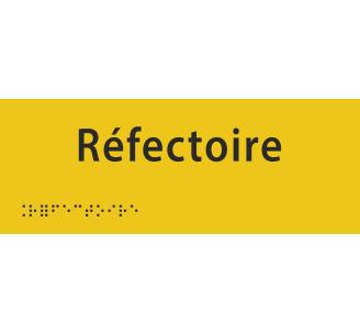 """Plaque porte avec Braille et relief """"Réfectoire"""""""