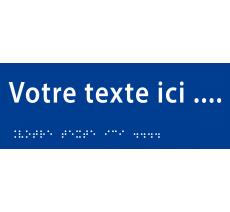 """Plaque porte avec Braille et relief """"Votre texte ici"""""""