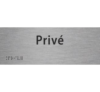 """Plaque porte avec Braille et relief """"Privé"""""""