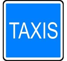 """Panneau seul ou en kit type routier  """"Station de taxis""""  ref:C5"""