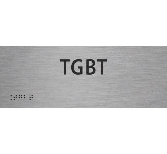 """Plaque porte avec Braille et relief """"TGBT"""""""