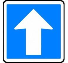 """Kit ou panneau type routier  """"Circulation en sens unique""""  ref:C12"""