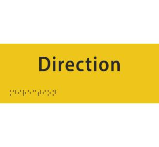 """Plaque porte avec Braille et relief """"Direction"""""""
