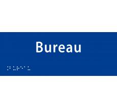 """Plaque porte avec Braille et relief """"Bureau"""""""