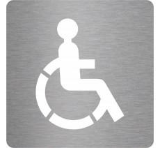 """Picto découpé pochoir 100mm de haut """"Toilettes handicapés"""", coloris au choix"""