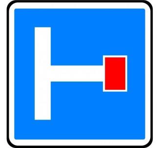 """Panneau / Kit type routier """"Présignalisation d'une impasse"""" ref:C13b"""