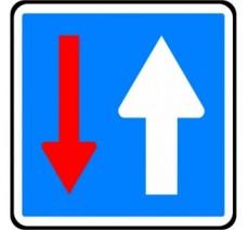 """Panneau seul ou en kit type routier  """"Priorité""""  ref:C18"""