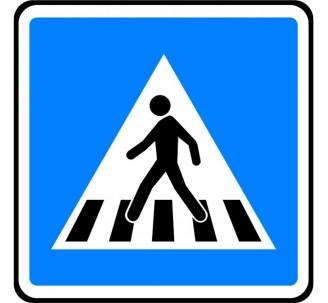 """Kit/Panneau type routier """"Passage pour piétons"""" ref:C20a"""