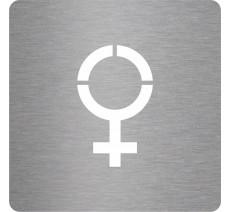 """Picto en alu ou en pvc pochoir """"Symbole Femme"""", 5 couleurs au choix"""