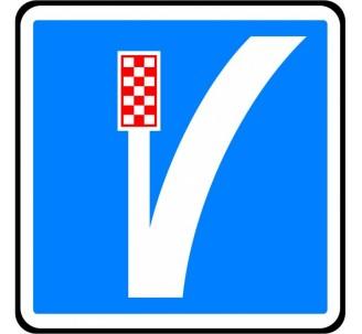 """Kit ou Panneau seul type routier """"Voie de détresse à gauche"""" ref:C26b"""