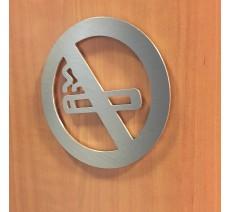 """Plaque porte picto alu ou pvc découpé """"Défense de fumer"""", 5 couleurs au choix"""
