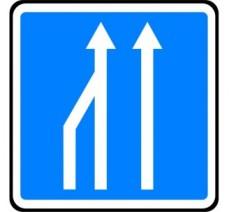 """Panneau ou kit type routier """"Réduction de voies"""" ref:C28"""
