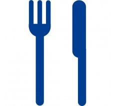 """Plaque porte picto alu ou pvc découpé """"Restaurant"""", 5 coloris au choix"""