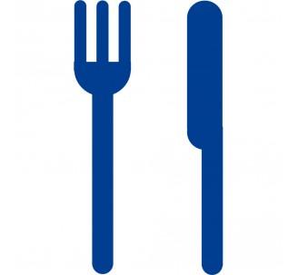 Plaque porte picto alu brossé découpé Restaurant