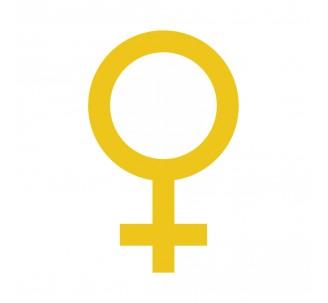 Plaque porte picto alu brossé découpé Symbole Femme