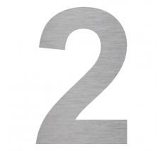 """Plaque porte picto alu ou pvc découpé """"2"""", couleurs au choix"""