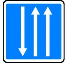 """Kit/Panneau type routier  """"Créneau de dépassement""""  ref:C29b"""