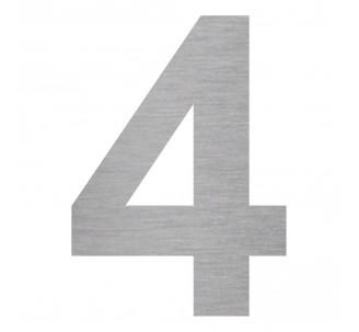 """Plaque porte picto alu brossé découpé """"4"""""""