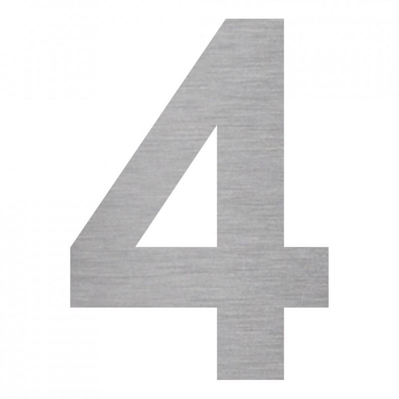 chiffre 4 d coup en aluminium ou en pvc pour plaque de. Black Bedroom Furniture Sets. Home Design Ideas