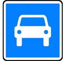 """Kit/Panneau type routier """"Route à accès réglementé"""" ref:C107"""