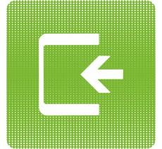 "Plaque de porte  ""Point Picto"" en plexiglass ou en alu - Logo Entrée"