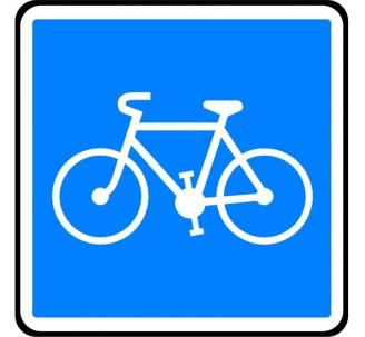 """Panneau ou kit type routier """"Piste conseillée et réservée aux cycles"""" ref:C113"""