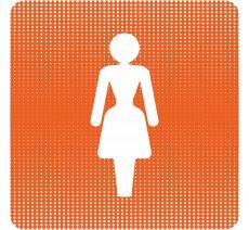 """Plaque de porte """"Point Picto"""" - Toilettes femmes"""