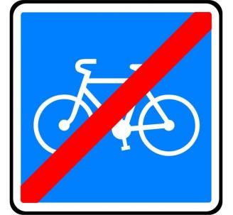 """Kit ou Panneau type routier """"Fin de piste conseillée et réservée aux cycles"""" ref:C114"""