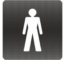 """Plaque de porte """"Point Picto"""" - Toilettes homme"""