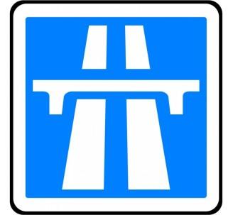 """Panneau seul ou en kit type routier """"Début d'une autoroute"""" ref:C207"""